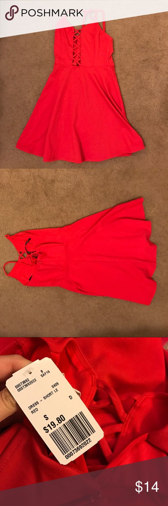 Red dress Red going out dress. Super cute! Never worn. Brand new! Forever 21 Dresses