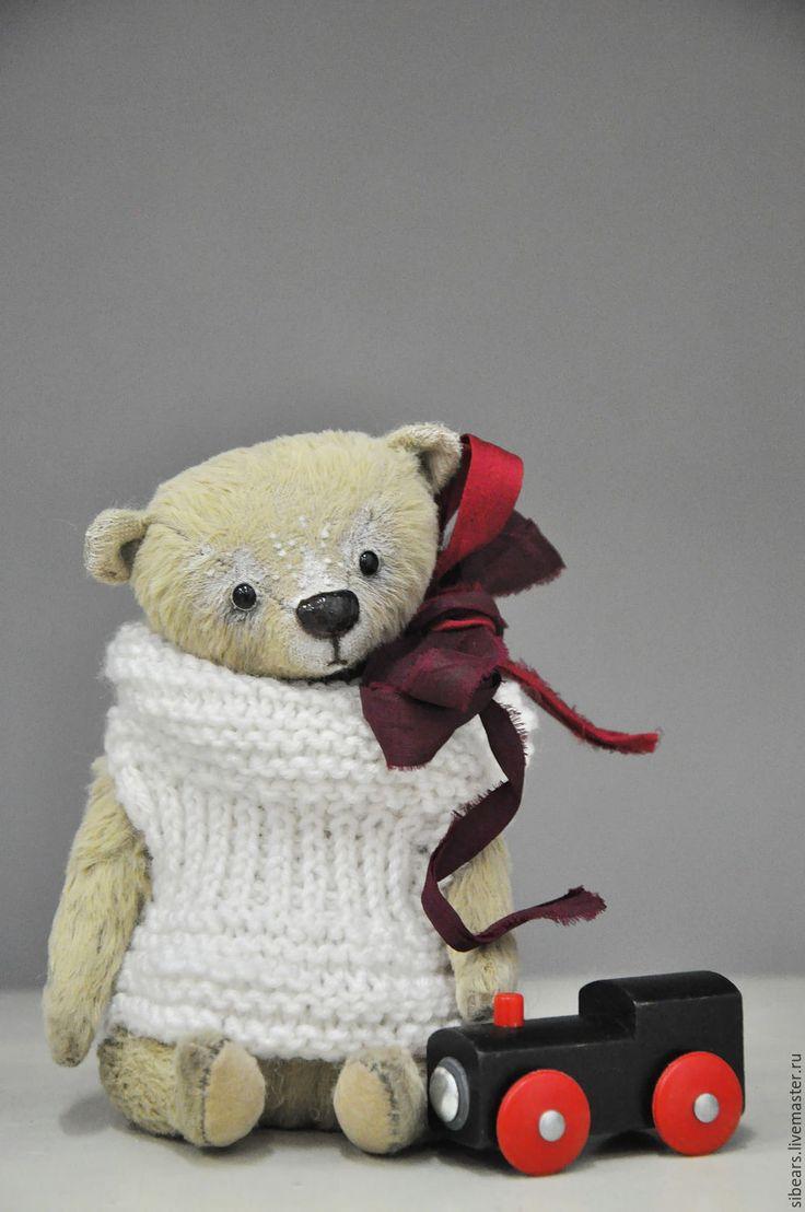 Купить Эдвард - бежевый, мишка тедди, мишка ручной работы, мишка в подарок, мишка в одежке