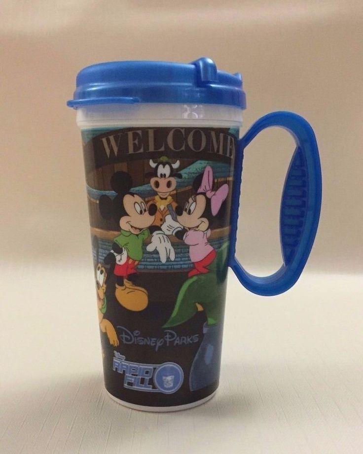Disney Parks Resort Refillable Travel Mug with Lid - Dark Blue