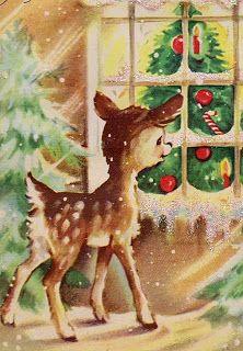 deer at christmas