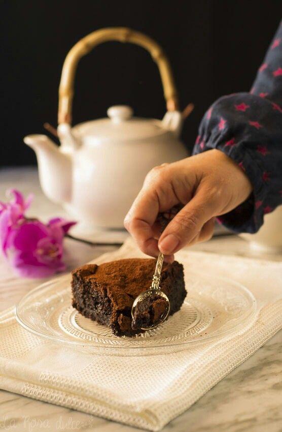 Pastel de chocolate sin harina #singluten #sinlactosa
