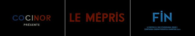 The Typography of Jean-Luc Godard. Title sequence from 'Le Mepris'.