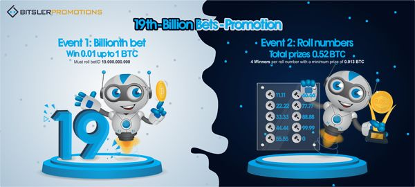 The 19 billionth bet will be played soon, with 1.52 bitcoin ($11,730) in prizes! Post your winning bets @ https://bitcointalk.org/index.php?topic=2422588.0 😎 #bitsler