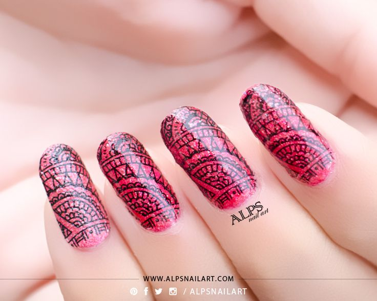 Henna Nails / Indian Nail art for Indian Festivity Challenge by  @alpsnailart #hennanails # - The 25+ Best Indian Nail Art Ideas On Pinterest Black Dot Nails