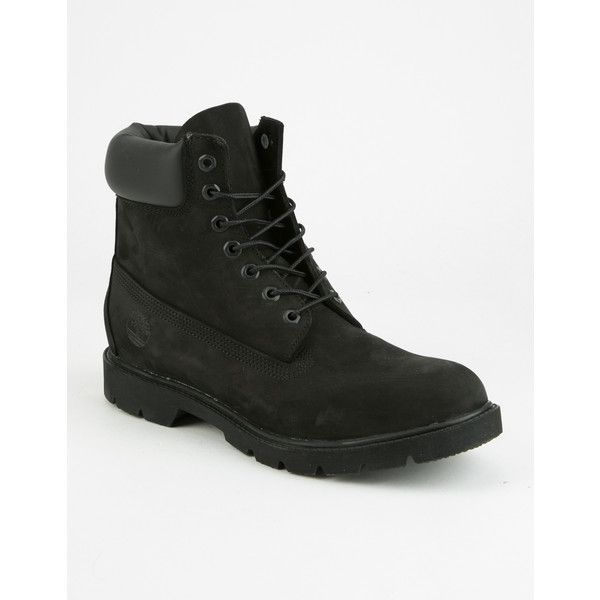 Timberland Icon 6 Boots ($160) ❤ liked on Polyvore featuring men's fashion, men's shoes, men's boots, timberland mens boots, mens waterproof boots, timberland mens shoes, mens rubber shoes and mens waterproof shoes