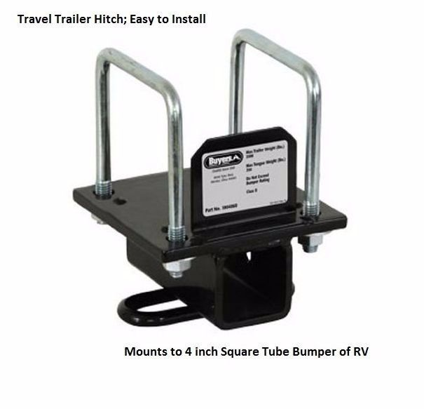 Bumper Universal Hitch Mount Travel Trailer 5th Wheel Accessories Towing RV Camp #BuyersPdts