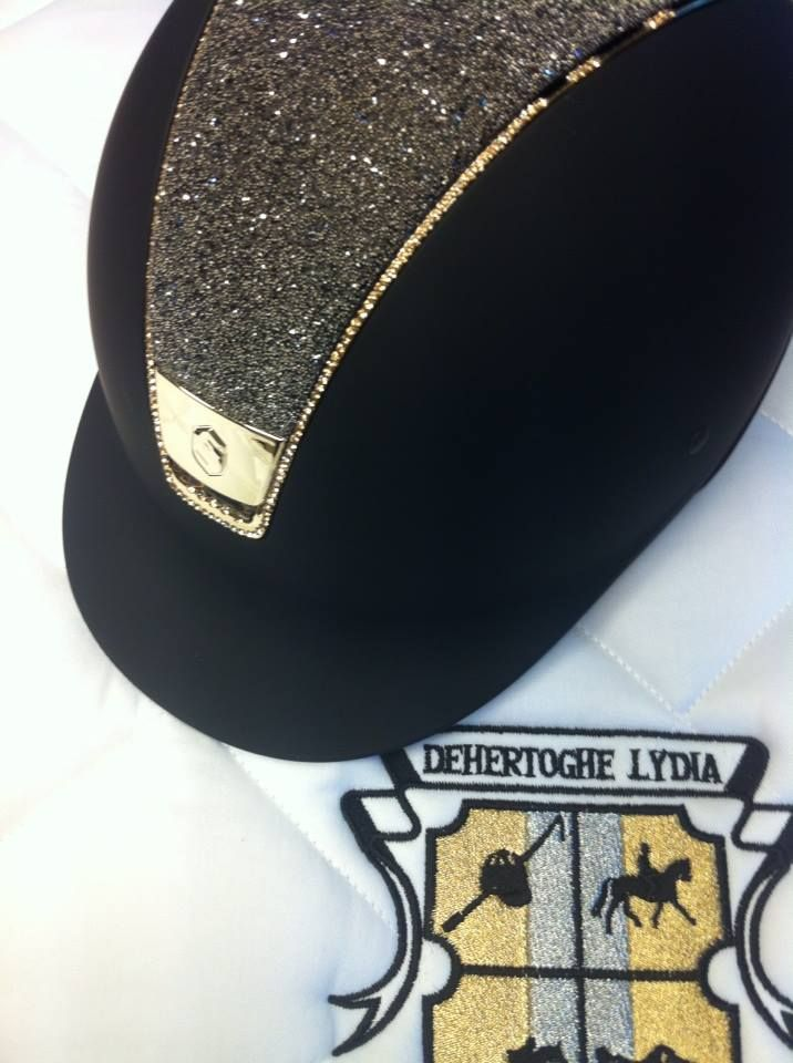 I just ordered a customized Samshield Swarovski Helmet that has the works to include the crocodile leather, crystals, and logo on the back. I'm so excited to sport it!