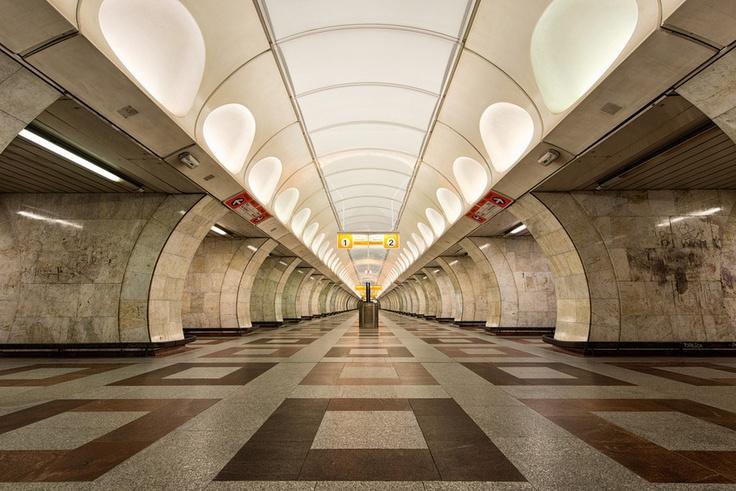 Metro station ANDEL I Prague I Czech Republic