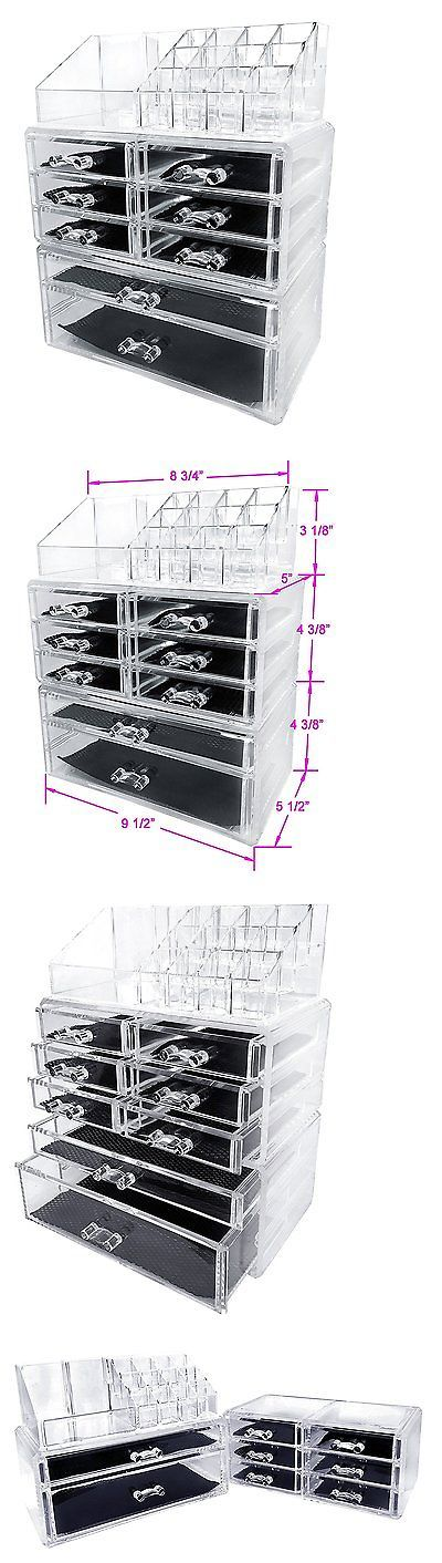 Makeup Bags and Cases: Sodynee Acrylic Makeup Cosmetic Organizer Storage Drawers Display Boxes Case, BUY IT NOW ONLY: $36.69