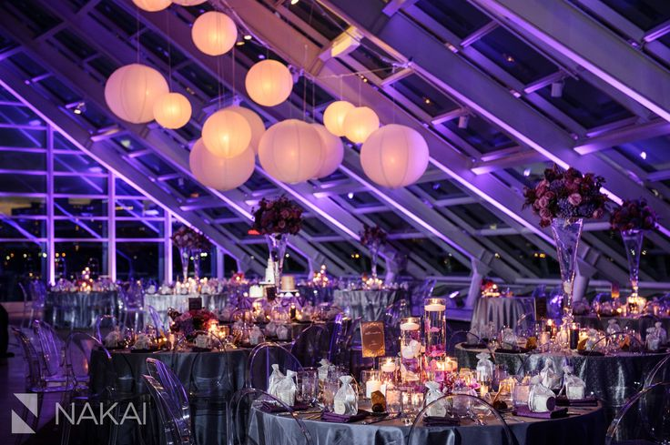 One of Chicago's Best Wedding Venues: Adler Planetarium! Reception Photos by Chicago Wedding Photographer: Nakai Photography - Revel Decor - Liven It Up - Museum Wedding Pictures  http://www.nakaiphotography.com