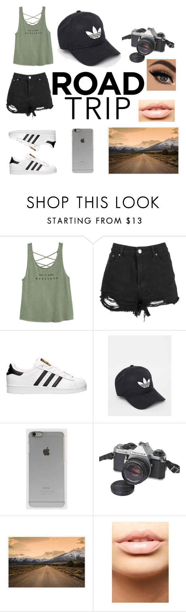 """""""Untitled #300"""" by taco-bell-love ❤ liked on Polyvore featuring adidas, Incase, Pentax, Pottery Barn, MDMflow and roadtrip"""