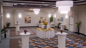 Hilton Garden Inn Dulles North in Ashburn, VA can host up to 250 guests and provides wedding packages starting at $80 per person. http://www.eventective.com/USA/Virginia/Ashburn/523795/Hilton-Garden-Inn-Dulles-North.html