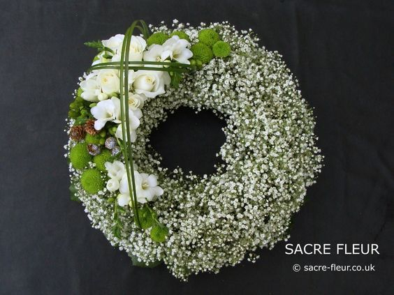 Gypsophila Wreath: