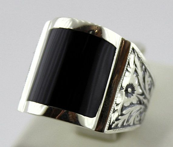 sterling silver 925 men ring design with oltu by