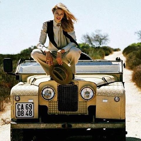 Land Rover 86 Serie One...with a Serie One girl.