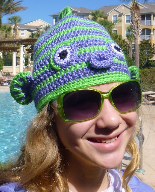 Ravelry: Kissy! Kissy! Fish Face Hat for boys and girls pattern by Darleen Hopkins