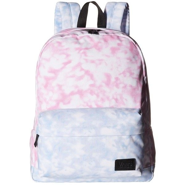 Vans Deana III Backpack ((Tie-Dye) Rose Violet) Backpack Bags ($36) ❤ liked on Polyvore featuring bags, backpacks, accessories, backpack, blue, violet bags, blue backpack, day pack backpack, rosette bag and knapsack bag