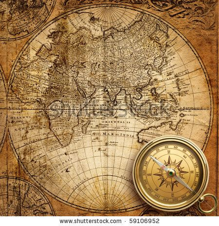 10 best maps images on pinterest antique maps old maps and world maps a glorious vintage map with matching compass gumiabroncs Images
