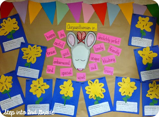 First Grade Blue Skies: Ideas for Using Chrysanthemum on the First Day of School {FREEBIE}