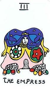 Tarot cards // The empress // Niki de Saint Phalle // Drawing
