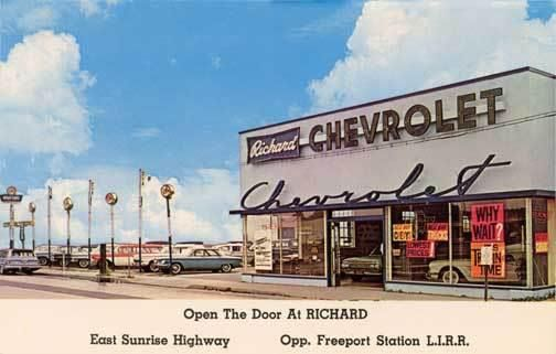 1961 Chevrolet Dealership & Used Car Lot - Old Car Dealership Sign #cardealer #vintage #retro