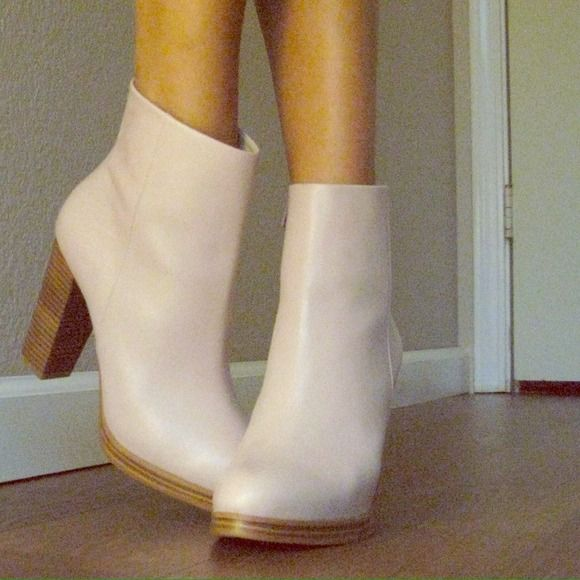 """Pink Wittner boots size 9 Wittner (Australian) powder pink boot in Nappa Leather size 9. 4"""" inch heel. Excellent shoe you can only order online from Australia.              FYI: these booties run a half size small so I am usually an 8.5 and these fit perfectly. Wittner Shoes"""