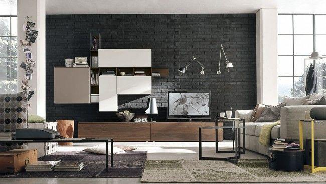 Μοντέρνα σύνθεση  από ξύλου δρυ με λάκα.Το ιδιαίτερο  design του είναι συνδυασμένο με αποθηκευτικό χώρο και άνετους χώρους για την τηλεόραση.Προσαρμόζεται σε διαστάσεις και χρώμα της επιλογής σας.