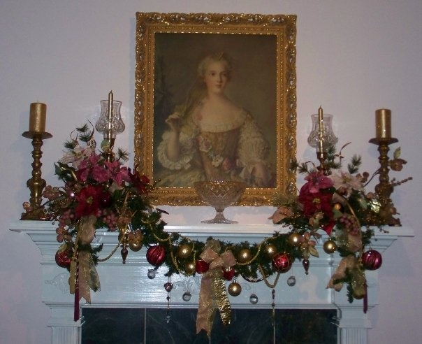 Beautiful Fireplace Mantel Decorated For Christmas Christmas Pinterest Beautiful Mantels