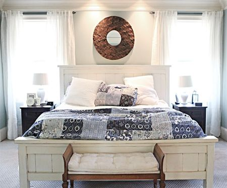 Home-Dzine - DIY cottage bed for master suite