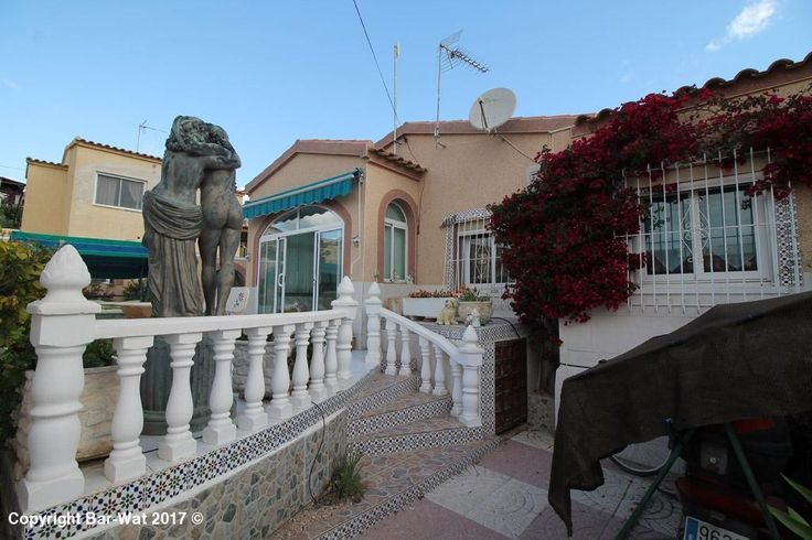 """Property Ref: 4063 Detached villa model """"Rosa"""" for sale on Urb. La Marina. This extended property is south facing and is located in a quiet area and comprises glazed porch, extended living room, dining room, independent kitchen, utility room, 2 bedrooms and extended bathroom. It has a private pool, outside shower, BBQ, awning, window bars, air conditioning, storage facilities and is being sold furnished. An internal viewing is strongly recommended. Price: 149.900€"""