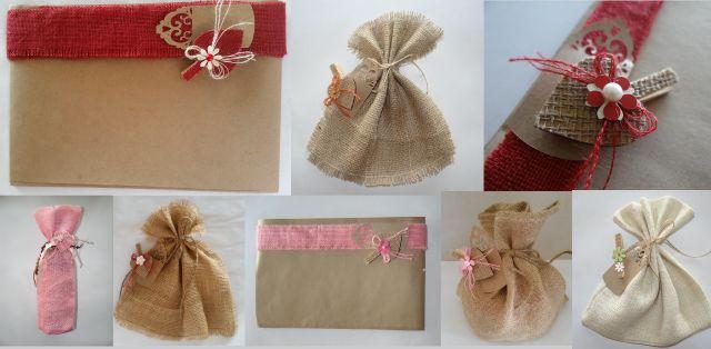 BiekiLiefde. Cute hesian Gift Bags