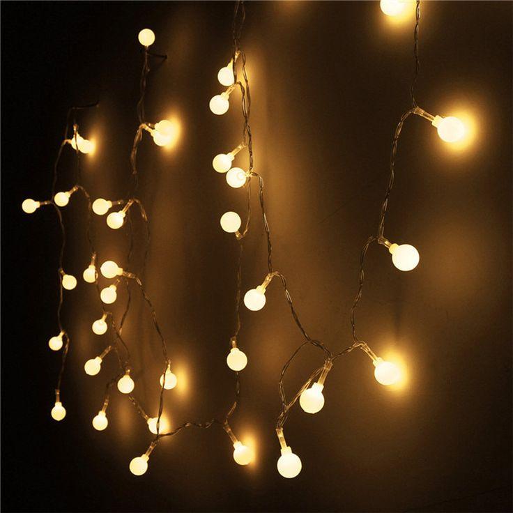 Las 25 mejores ideas sobre luces de boda de navidad en for Luces exterior bombillas