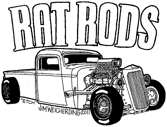 151 best images about rat rod coloring on pinterest