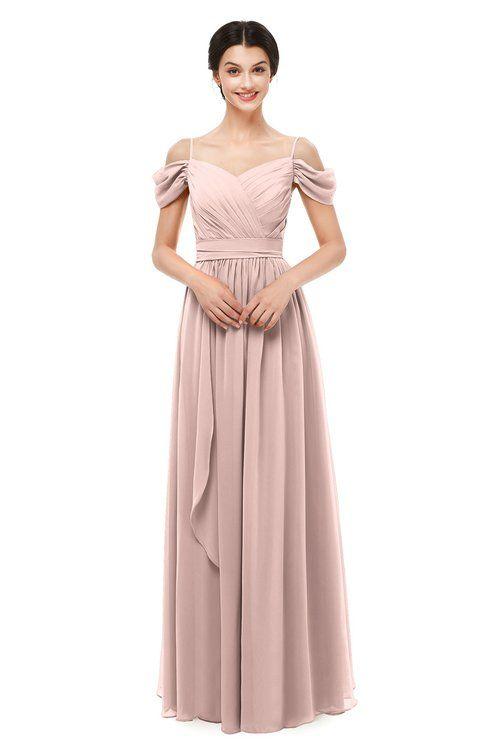 5e7bfb2f1de8 ColsBM Skylar Dusty Rose Bridesmaid Dresses Spaghetti Sexy Zip up Floor  Length A-line Pleated