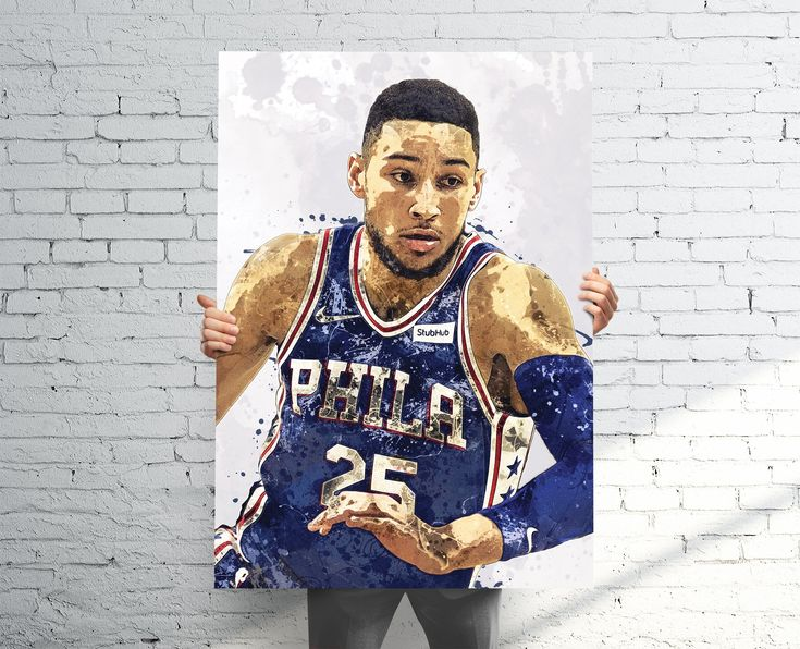 Ben Simmons Philadelphia 76ers Paint Splatter Poster / Canvas Print.High-quality prints, which make for the perfect gift for any fan, home, man cave, bedroom, or sports bar / pub decor.•••••••••••• POSTER PRINTS ••••••••••••• Printed on Premium Gloss Poster Paper (Epson 10.3 mil / 250 gsm).• Epson UltraChrome HD Ink (longer lasting, better color, resistant to UV fade).• 1-3 Open-Day Processing for most orders.• PICTURE FRAMES ARE NOT INCLUDED•••••••••••• CANVAS PRINTS ••••••••••••• Mounted: Canv