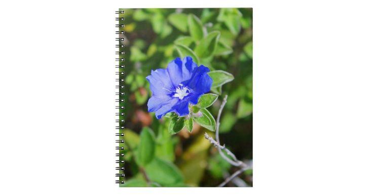 Blue Flower Floral Notebook