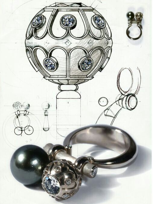 Kinetic ring with bovable balls by Vlad Glynin