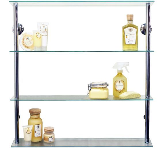 Art Exhibition Buy Wide Glass Shelving Unit Clear at Argos co uk Your Online