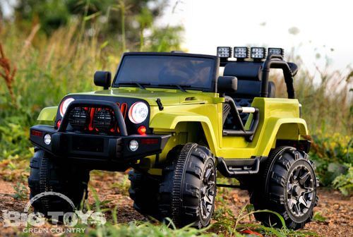 green lifted power wheels jeep ride on