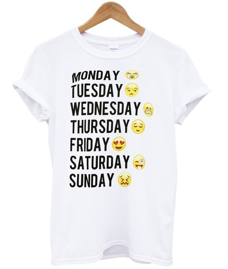 Days of the week t shirt for unisex   politeronkah - on ArtFire