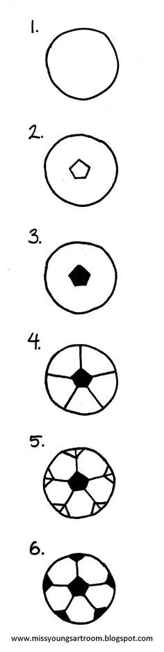omg. i can't even tell you HOW many times kids have asked for help drawing a soccer ball. and this is 100 x's better than anything i've come up with!