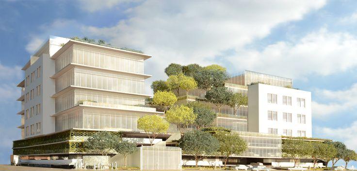 Galeria de Novo edifício de Frank Gehry em LA terá terraços cobertos de árvores - 1