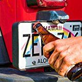 Rear License Plate Mounted Bottle Opener Tailgate Accessory fits Jeep Wrangler JK JKU and TJ Models  Awesome for Tailgating and a Great Addition to Your Jeep Wrangler Accessories