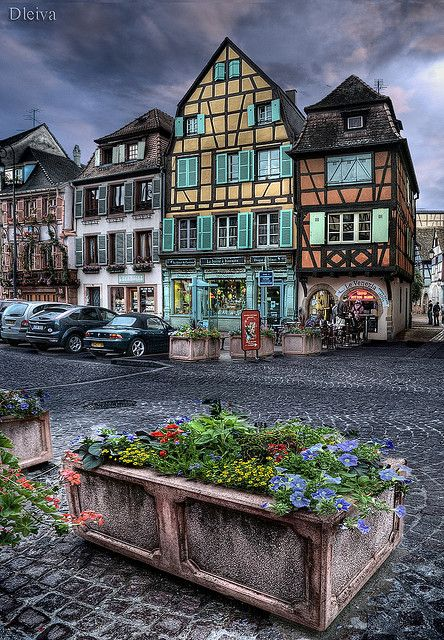 Colmar, Alsace Region, France. The city is renowned for its well preserved old town, its numerous architectural landmarks and its museums, among which is the Unterlinden Museum with the Isenheim Altarpiece.