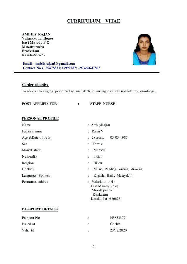 Nurse Cv Example Nursing Resume Template Nursing Cv Nursing Resume