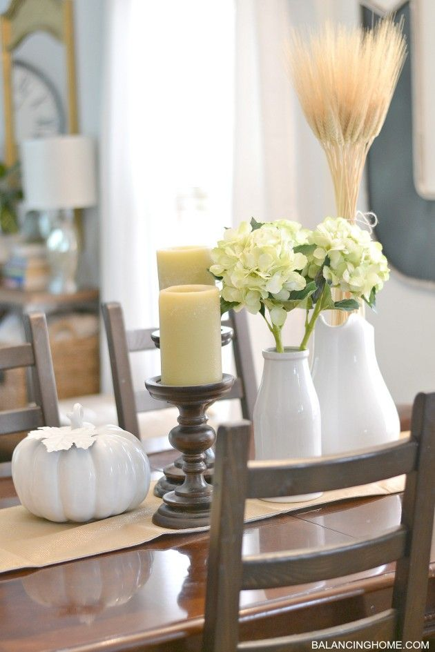 17 best ideas about dining room table centerpieces on for Simple dining table centerpiece ideas