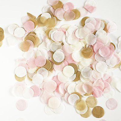 Pink and Gold Tissue Paper Circle Confetti Party Decoration Wedding Baby Shower