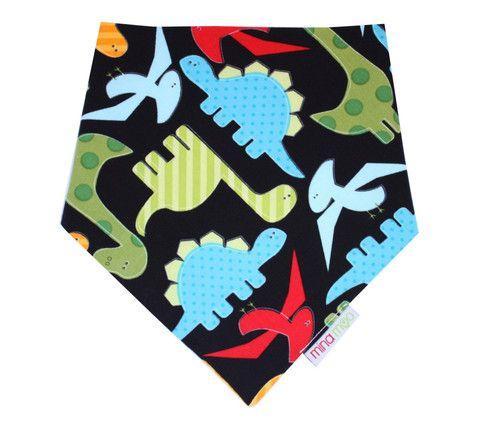 Dinosaurs dribble bandana bib – Mina Moo and Baby