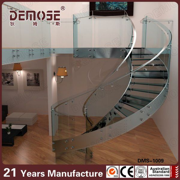 Glass Spiral Staircase for Sale