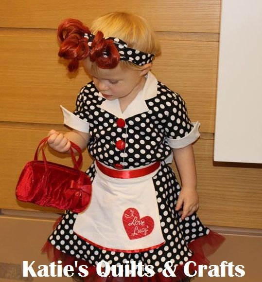 katies quilts and crafts i love lucy toddler costume - I Love Lucy Halloween Costumes